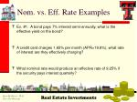 nom vs eff rate examples