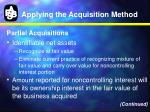 applying the acquisition method10