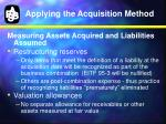 applying the acquisition method5