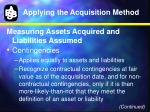 applying the acquisition method6