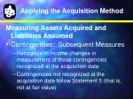 applying the acquisition method8
