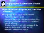 applying the acquisition method9