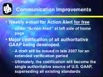 communication improvements