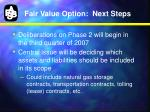 fair value option next steps