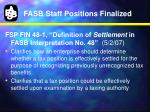 fasb staff positions finalized1