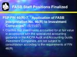 fasb staff positions finalized2