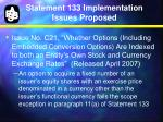 statement 133 implementation issues proposed