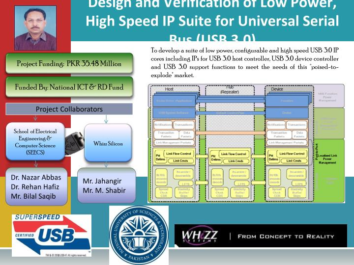 Design and Verification of Low Power, High Speed IP Suite for Universal Serial Bus (USB 3.0)