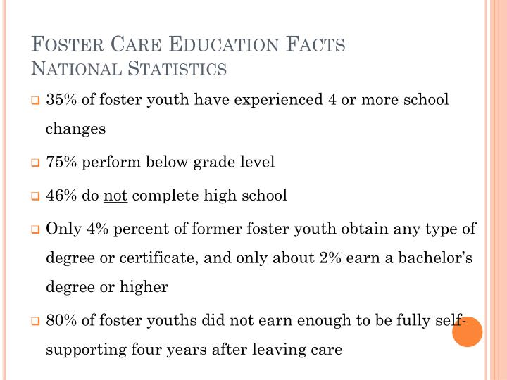 Foster Care Education Facts
