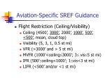aviation specific sref guidance