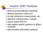 aviation sref feedback