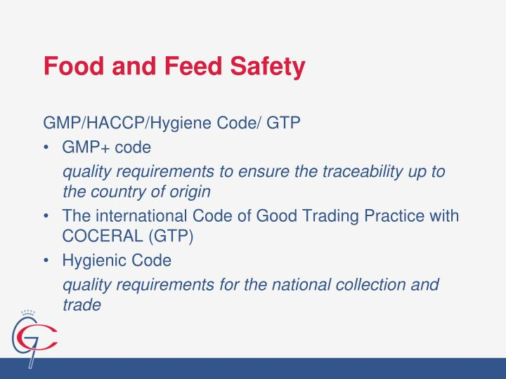 Food and Feed Safety