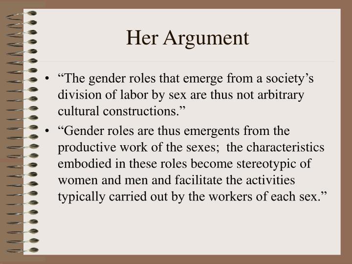 Her Argument