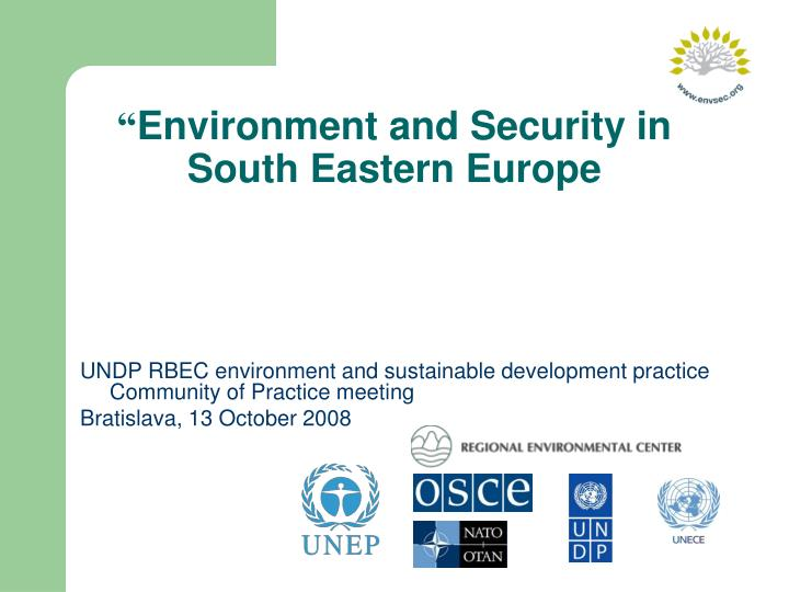 environment and security in south eastern europe n.