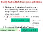 duality relationship between erosion and dilation