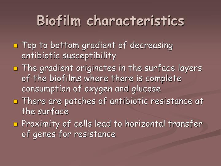 Biofilm characteristics