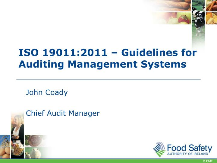 PPT - ISO 19011:2011 – Guidelines for Auditing Management