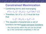 constrained maximization11