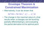 envelope theorem constrained maximization1