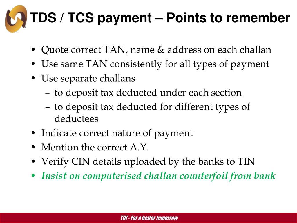 Tds Challan Payment