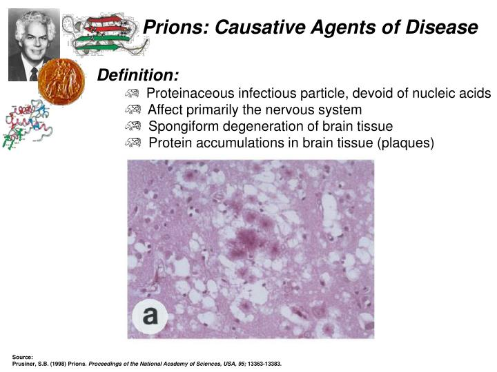 Prions causative agents of disease