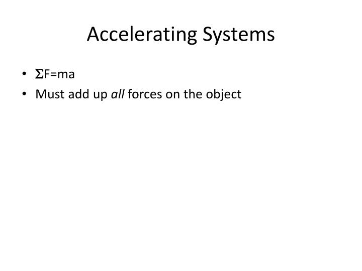 Accelerating Systems