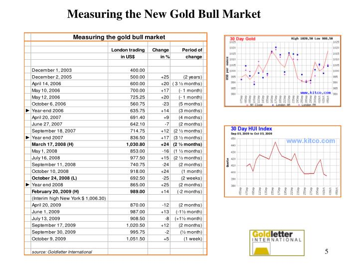 Measuring the New Gold Bull Market