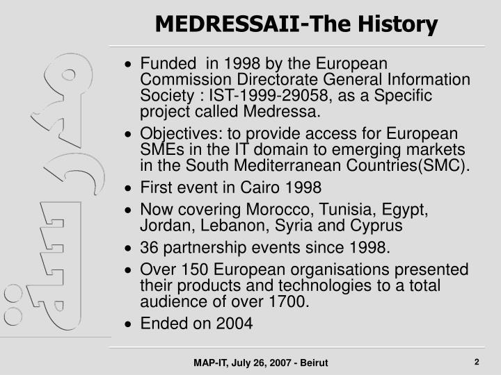 Medressaii the history