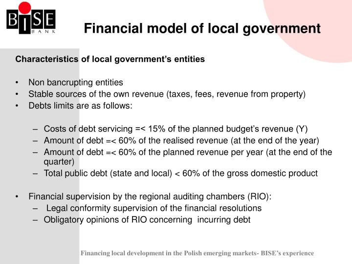 Financial model of local government