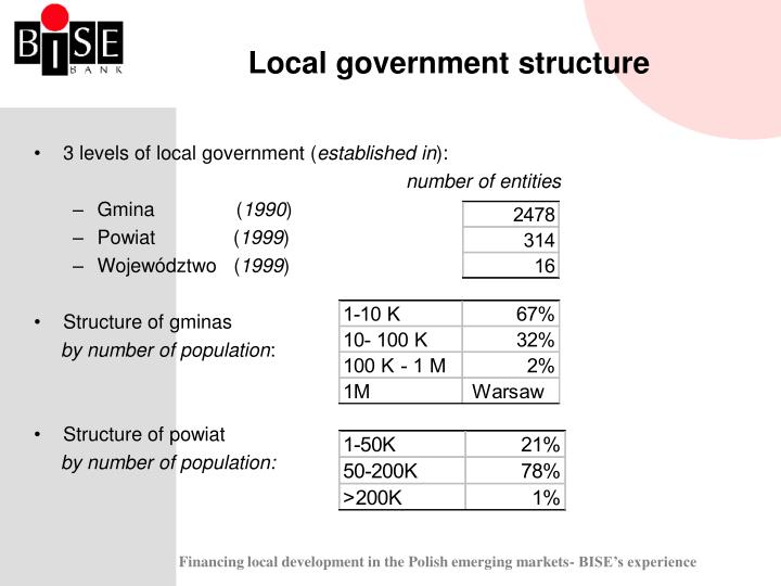 Local government structure