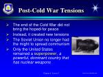 post cold war tensions