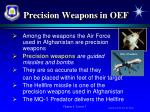 precision weapons in oef