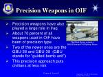 precision weapons in oif