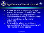 significance of stealth aircraft