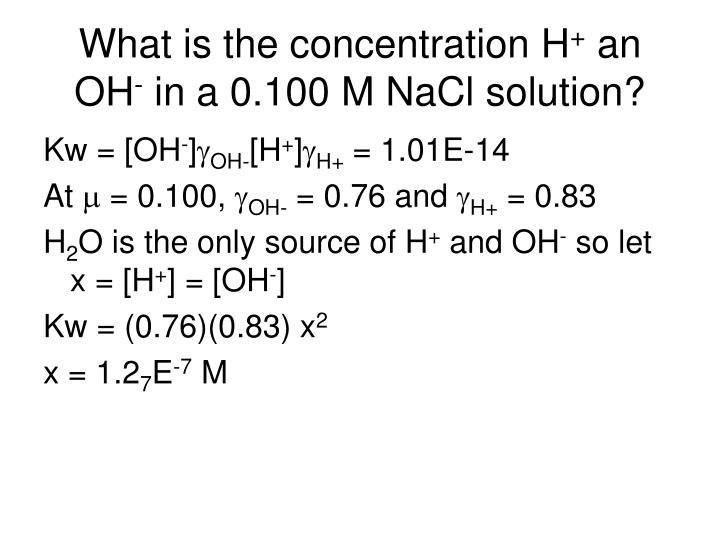What is the concentration H