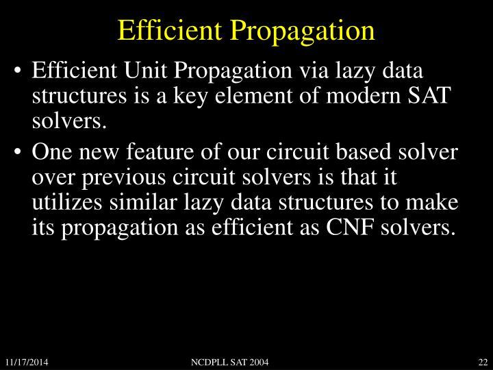 Efficient Propagation