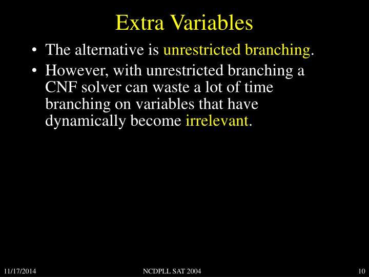 Extra Variables