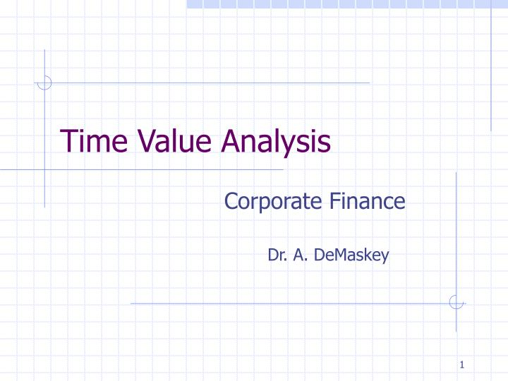 time value analysis n.