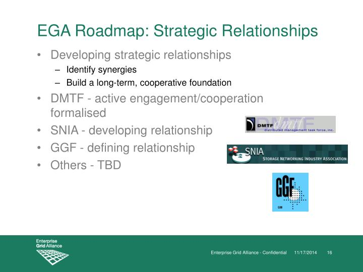 EGA Roadmap: Strategic Relationships