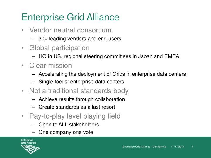 Enterprise Grid Alliance