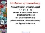 mechanics of annualizing