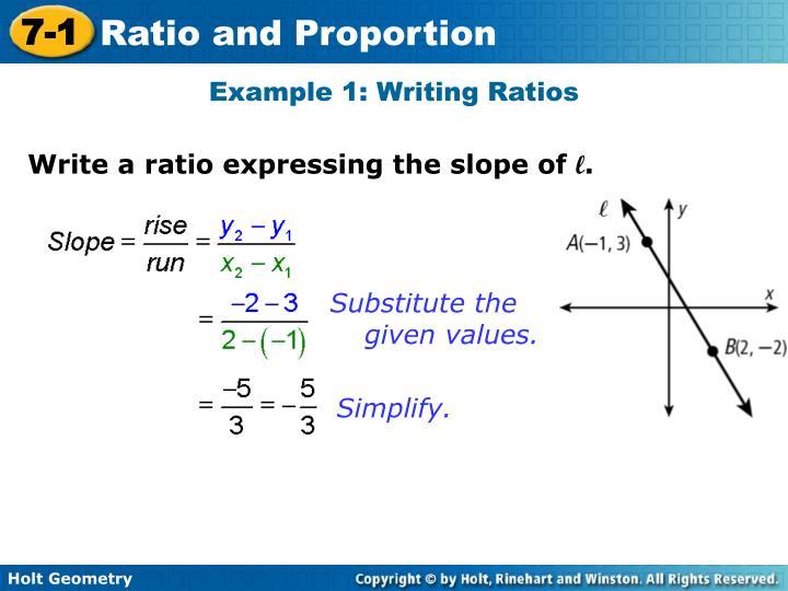 Example 1: Writing Ratios