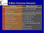 9 main outcome domains