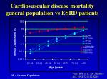 cardiovascular disease mortality general population vs esrd patients