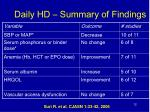 daily hd summary of findings
