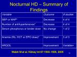nocturnal hd summary of findings