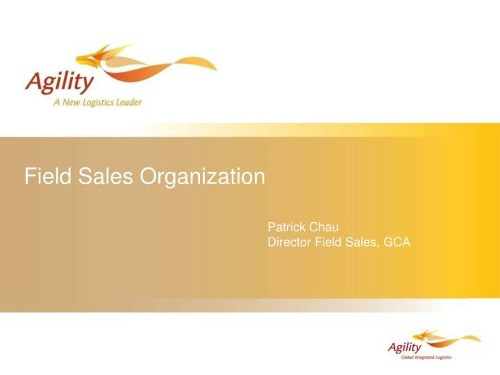 field sales organization n.