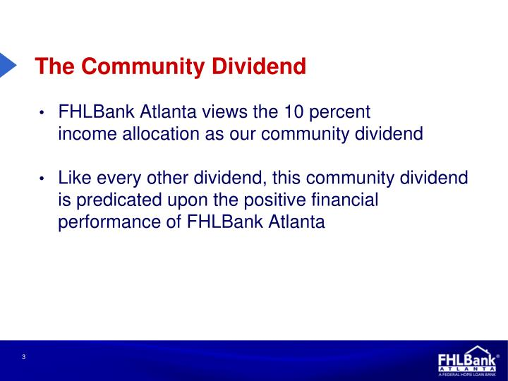 The Community Dividend