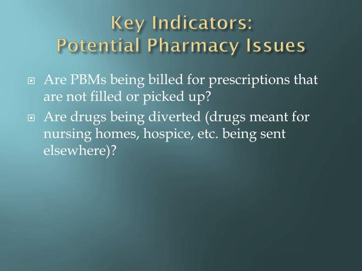 Key Indicators: