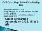 gulf coast high school scholarship list